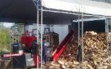 Firewood from hardwood for fireplaces