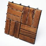 Exterior Decking  For Sale - 12 Slats Wood deck Tile, Wood Floor