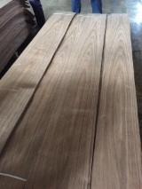 批发木皮 - 采购或销售木皮复合板 - 天然单板, 黑胡桃木, 向下刨平