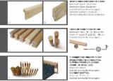 Mouldings - Profiled Timber Oak For Sale - Solid wood bars, staircase handrails, dowels and mouldings