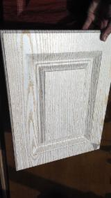 null - Wood Grain Color PVC Laminated MDF Kitchen Cabinet Door