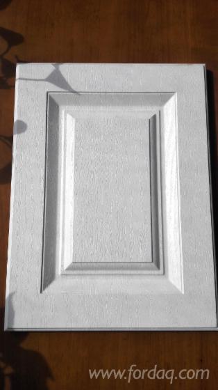 Wood Grain Color PVC Laminated MDF Kitchen Cabinet Door