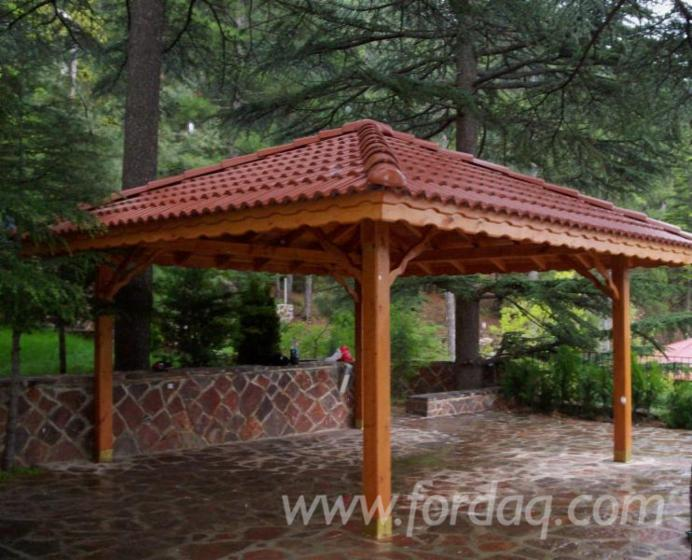 Wooden Gazebo, Armand Pine  - 3m x 3m; 4m x 4m; 5m x 5m; 6m x 6m