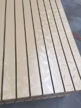 null - Hot Sale, 15mm Leaves Design Melamine MDF Slatwall with Aluminium Bar