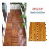 Anti-Slip Decking  Exterior Decking - Acacia Anti-Slip Decking Tiles, 15; 19; 24 mm thick