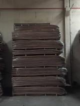 天然单板, 黑胡桃木, 向下刨平