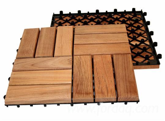 Acacia Exterior Decking Interlocking Diy Deck Tile