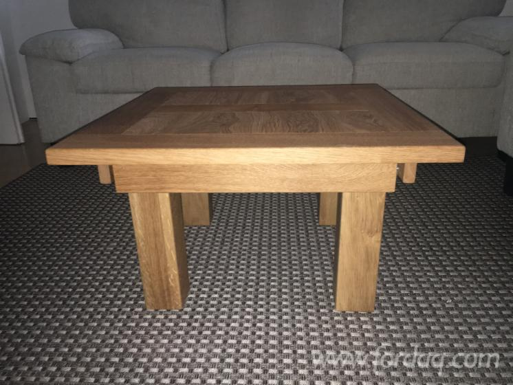 Solid oak coffee table 70 x 70 x 38cm for Coffee table 70 x 70