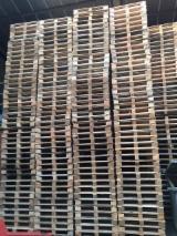 Paletten, Kisten, Verpackungsholz - Ladepalette, Wiederaufbereitet - Gebraucht, In Guten Zustand