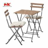 Garden Furniture - Acacia and Wrought Iron Folding Garden Sets