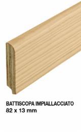 Battiscopa impiallacciato - Larice antico - 82x13 mm