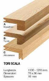 Cornici - Profili In Legno  In Vendita - Tori scala in larice antico 70 x 36 mm