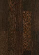 Solid Wood Flooring - Prefinished Oak tinted Wenge Flooring UV Oil 10 mm