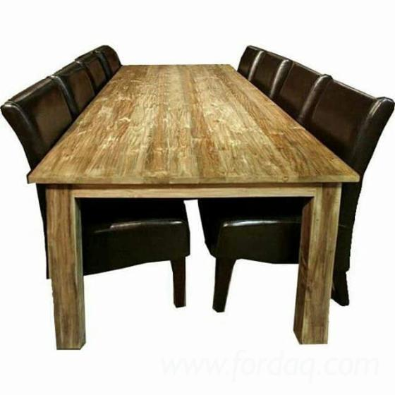 vend ensemble table et chaises pour salle manger transitoire feuillus asiatiques teak jepara. Black Bedroom Furniture Sets. Home Design Ideas