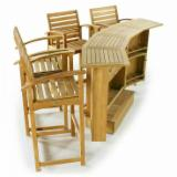 Natural Wood Contract Furniture - Teak Bar Sets from Indonesia