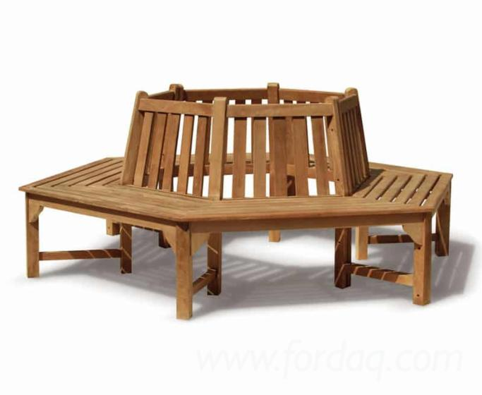 Awe Inspiring Teak Round Tree Garden Bench From Indonesia Gmtry Best Dining Table And Chair Ideas Images Gmtryco