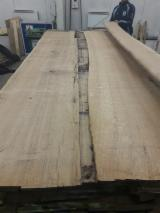 Hardwood  Unedged Timber - Flitches - Boules - European Oak 15; 20 mm, A-quality