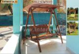 Outdoor Acacia Colonial Swing 2-Seater