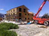 Structuri Prefabricate Din Lemn - complex de apartamente structura de lemn(osature bois) - Le Merrain,Meribel