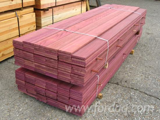 Purpleheart greenheart lumber piling and other spcies of for Purple heart wood flooring