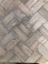 Solid Wood Flooring - Oak Industrial Parquet, 15 mm thick