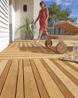 Terrassenholz Italien - Robinie , Belag (2 Abgestumpfte Kanten)
