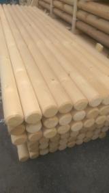 修剪圆柱形圆梁, 云杉-白色木材