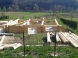 Holzhäuser - Vorgeschnittene Fachwerkbalken - Dachstuhl Zu Verkaufen - Naturstammhaus, Fichte