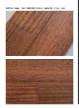 Engineered Wood Flooring - Multilayered Wood Flooring - Engineered Jatoba Flooring, One Strip Wide, 14 mm thick