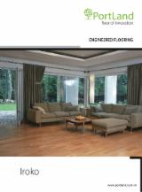 Engineered Wood Flooring - Multilayered Wood Flooring - Engineered Iroko Flooring, Three Strip Wide, 14 mm thick