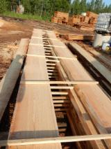 Softwood  Unedged Timber - Flitches - Boules Demands - Siberian Larch Half-Edged Radial Cut Boards
