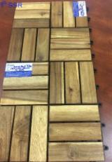 Exterior Wood Decking - FSC Acacia Decking Tiles/Exterior Decking, 15; 19; 24 mm thick