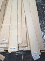 Sliced Veneer For Sale - White Ash Natural Veneer, Flat cut - plain, 0.55 mm thick