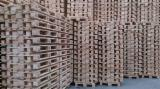 Pallets – Packaging - New Pine Euro Pallets - EPAL, 120 x 800 x 1200 mm