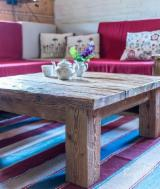 Traditional Living Room Furniture - Old Pine Wood Coffee Table