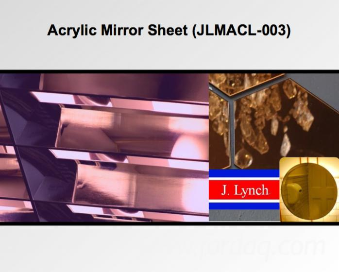 Acrylic (PMMA) Mirror Sheet (JLMACL-003) with Scratch Resistance
