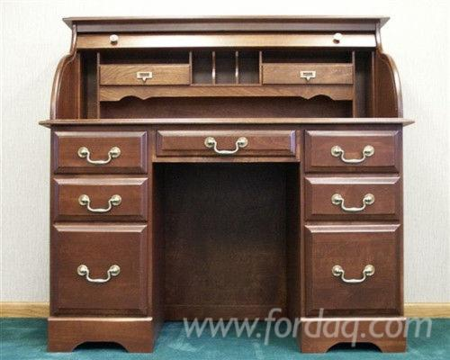 "Haugen Solid Cherry 48"" Double Pedestal Executive Desk"