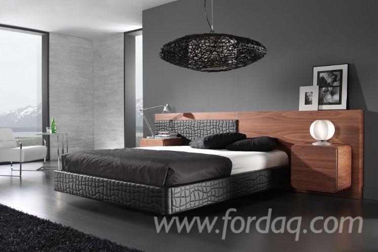 Modern Design American Walnut  5 Piece King Size Bedroom Set Furniture