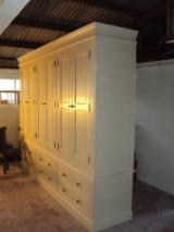 Bedroom Furniture For Sale - Painted 6 Door Wardrobe with fluting detail - over 6 drawers---1200Euro