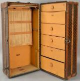 Traditional Bedroom Furniture - Louis Vuitton Wardrobe Trunk Monogrammed Circa Steamer Drawers/Hangers