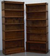 Oak Children's Room - PAIR OF ORIGINAL GLOBE WERNICKE SOLID OAK STACKING BOOKCASES CUSTOM NO DOORS---1000usd