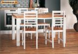 Dining Room Furniture - Soild Wood Fano Dining Table Set - 1 table with 4 chairs