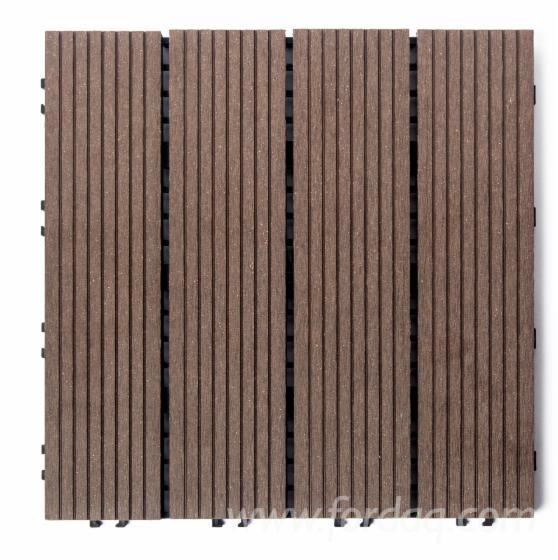 Outdoor wood plastic composite decking tile diy for Non slip composite decking