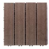 Terrassenholz Verbundholz - WPC Wood Plastic Components - FSC, Rutschfester Belag (1 Seite)