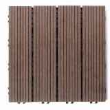 Exterior Decking  Composite Wood  - WPC Wood Plastic Components - WPC Anti-Slip Exterior Decking, FSC, DIY, 300 x 300 x 24 mm