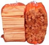 null - Dry Pine Kindlings in Net or Plastic Bags, 15 cm long