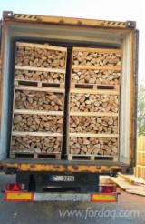 Firewood, Pellets and Residues - Birch/Alder Firewood Cleaved in 1Rm box and 1.8Rm box, 25 cm long