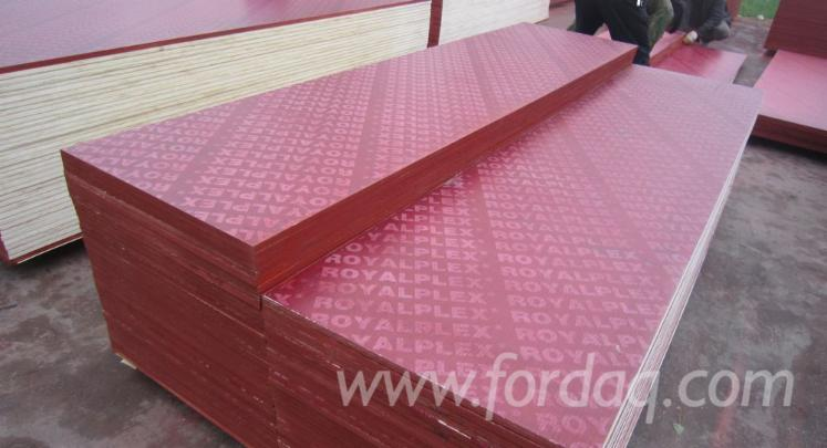 Poplar-Black-and-Red-Film-Faced-Marine-Plywood-for