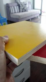 Plywood - Best Prices, Red/Yellow/Pink Melamine Plywood For Furniture, 2.5-25 mm thick