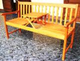 Garden Furniture - Bench 3 Seater with Center Table - Garden Chairs